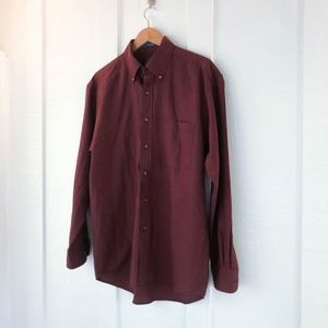 SIR PENDLETON Virgin Wool Casual Button Down Shirt